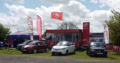 635 Register MG Motor stand at Thruxton BTCC 2015