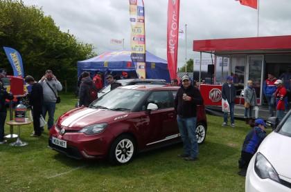 MG3 Owners car at Thruxton BTCC