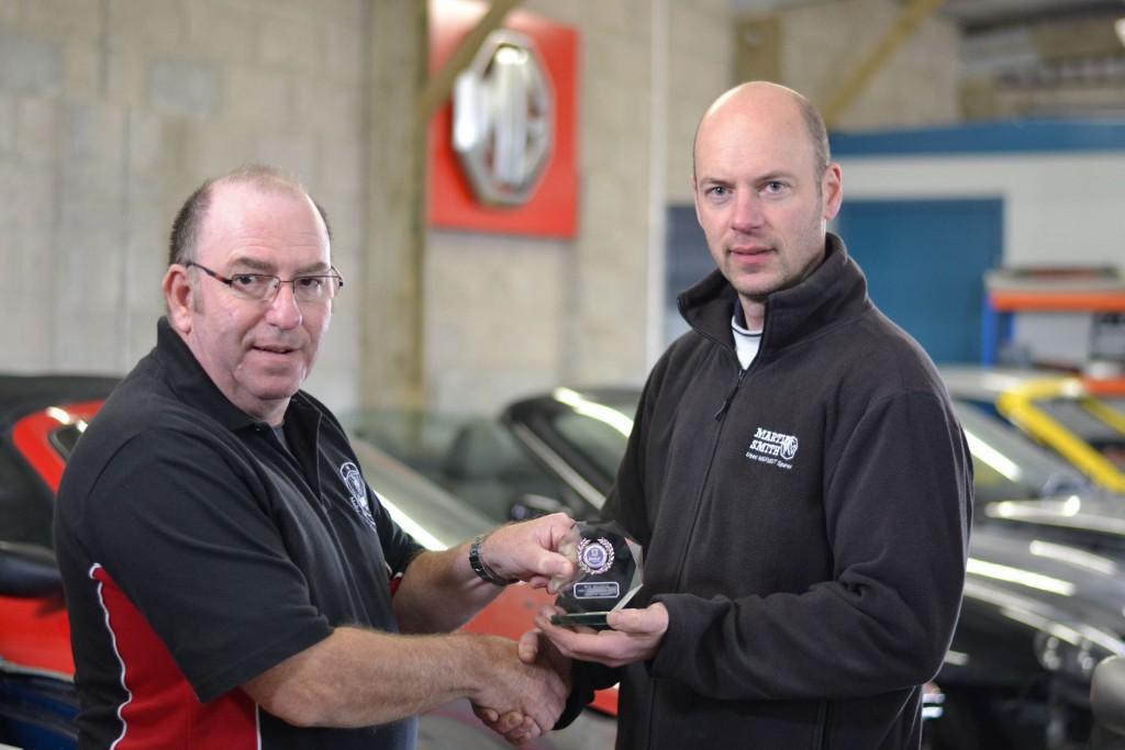 Martin Smith receiving his Special Award