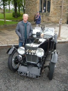 David Rawlinson with Prince Bishops Trophy winning MG J2