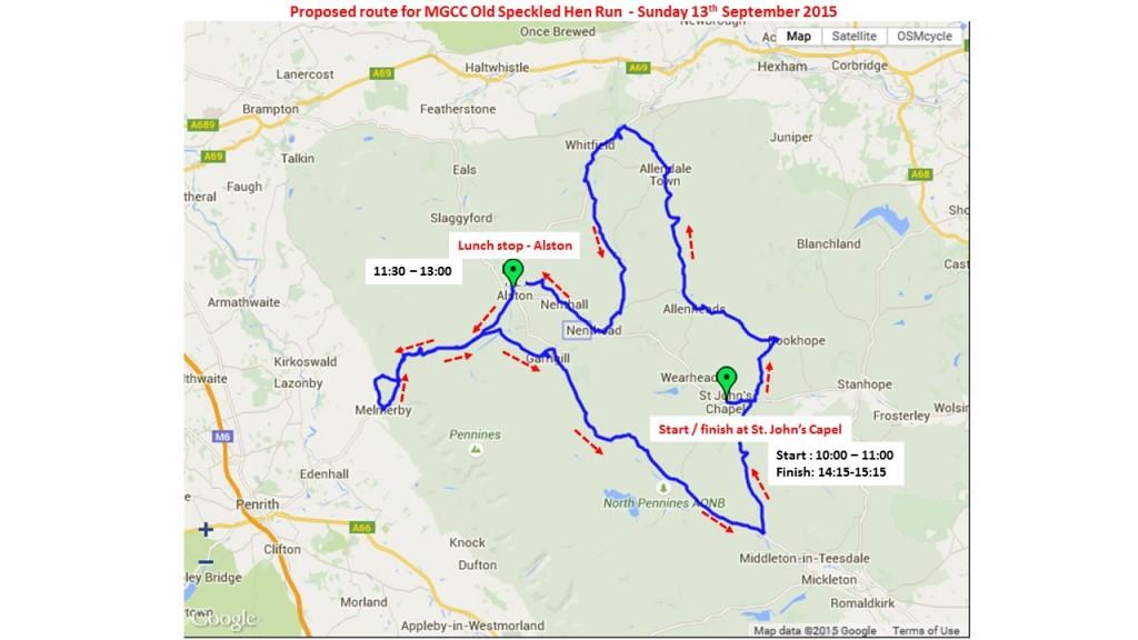 OSHR 2015 Route Info for RLO