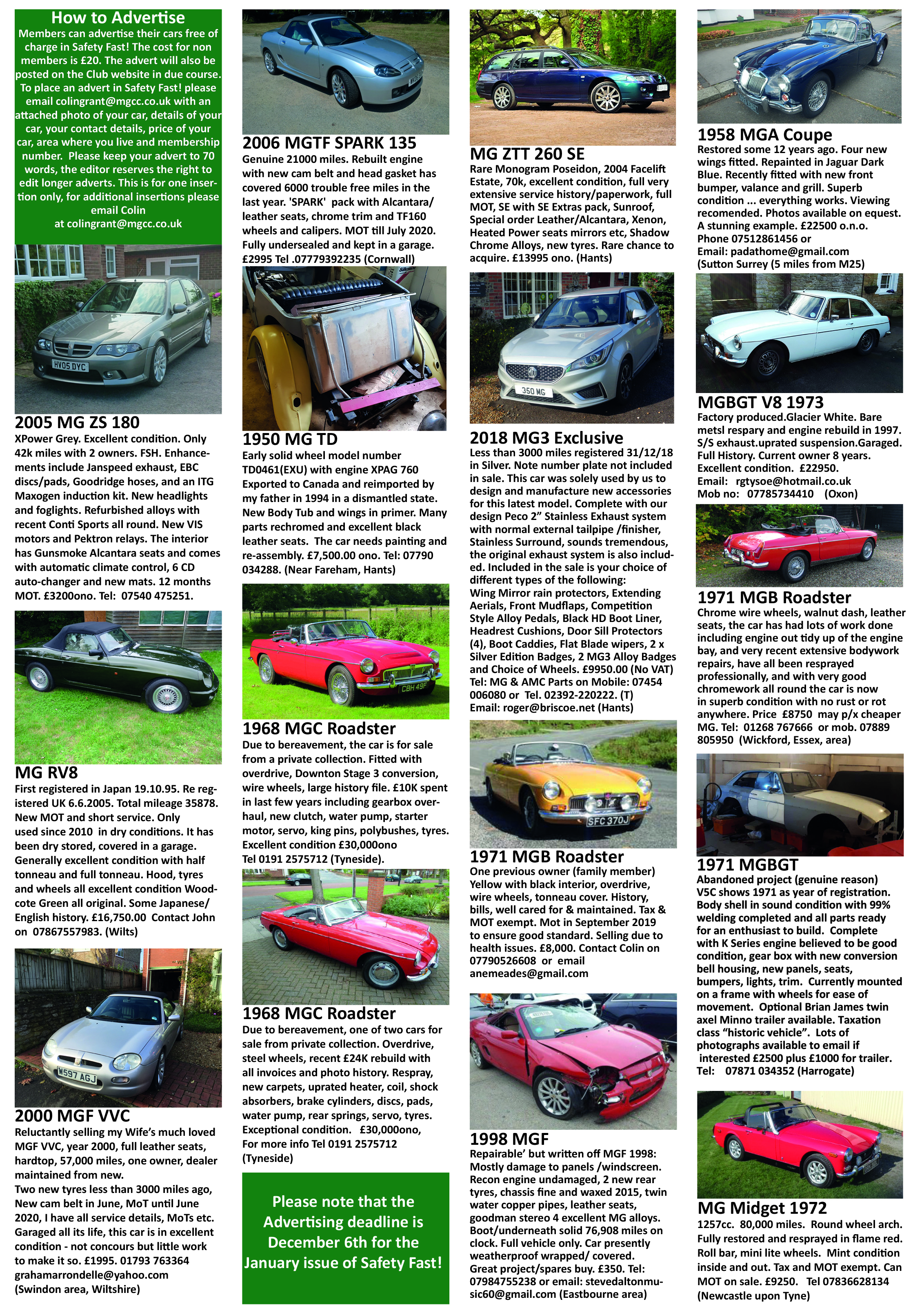 Cars For Sale Mg Car Club