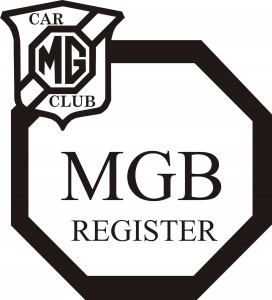 MGB REGISTER LOGO BK ON WH.