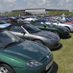 The MGF Register parking was beginning to rival the MGB Register!