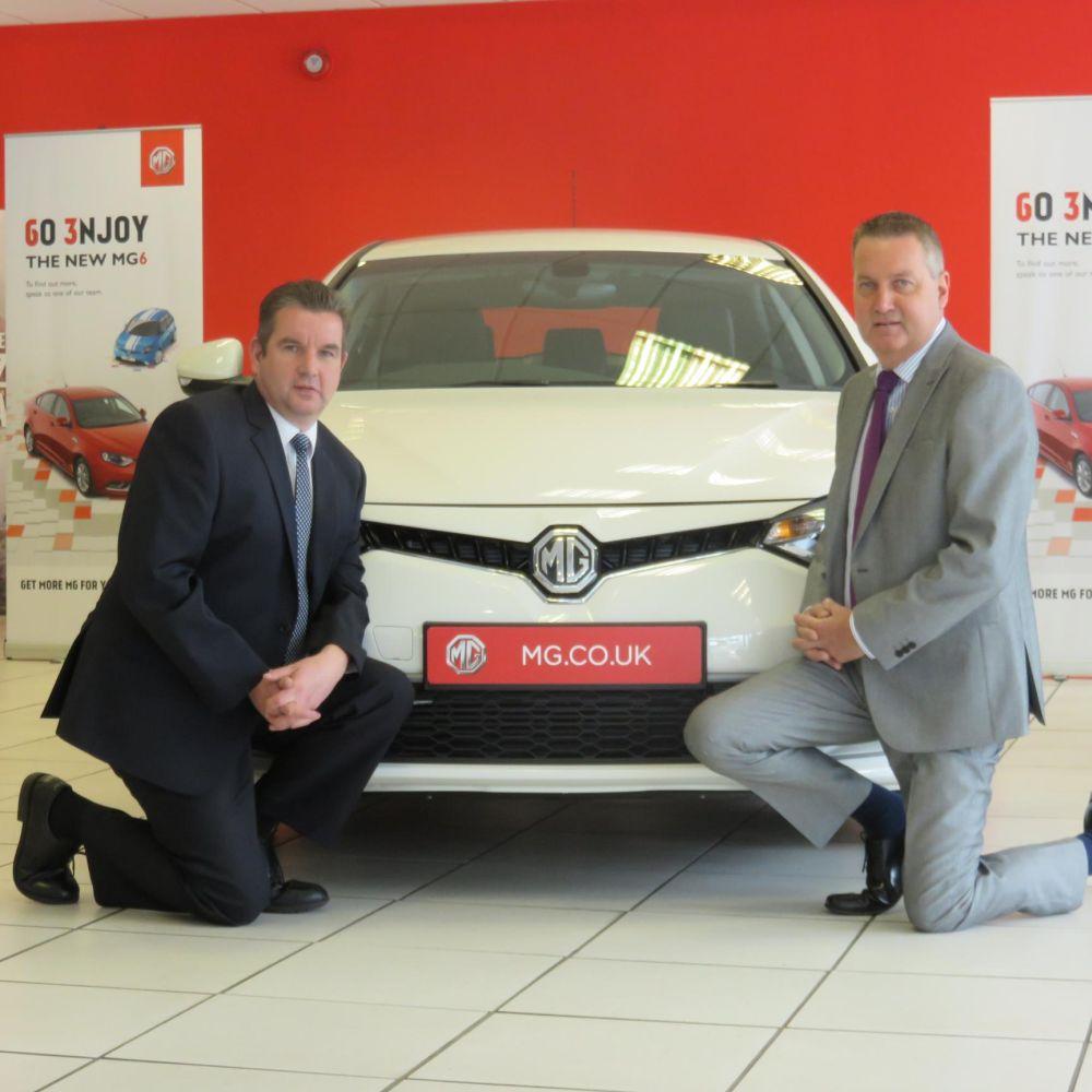 Chris Hoare (L) and Steve Hoare of Roadworthy Motors, Bristol