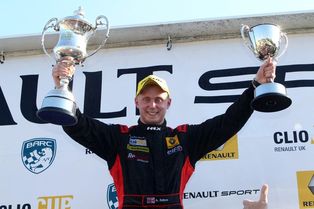 Ashley Sutton (GBR) Team BMR Restart with Pyro Renault Clio Cup