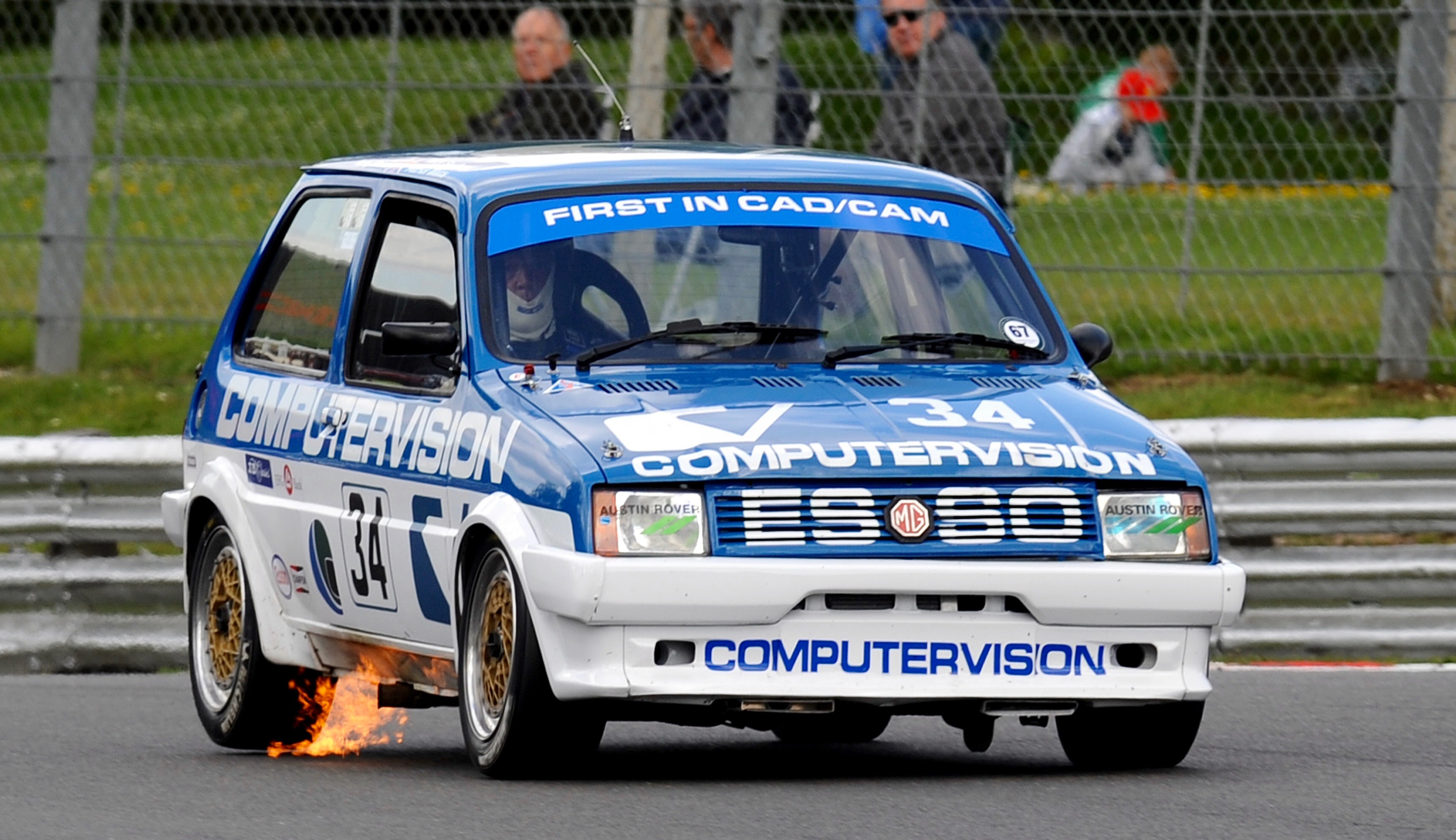 Patrick Watts racing the first of three revived MG Metro Turbos ...