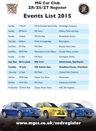 Zed Register Events List 2015